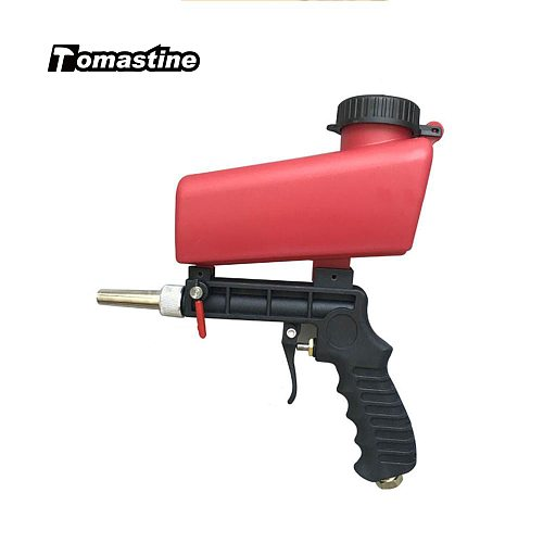 90psi Gravity Sandblasting Gun Pneumatic 700cfm Gas Consumption Sand Blasting Machine Adjustable Pneumatic Sandblasting Tools