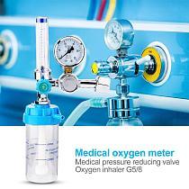 Pressure Relief Meter Inhaler Shockproof Oxygen Acetylene Meter Gas Valve Body Zinc Alloy Regulator Medical Instruments