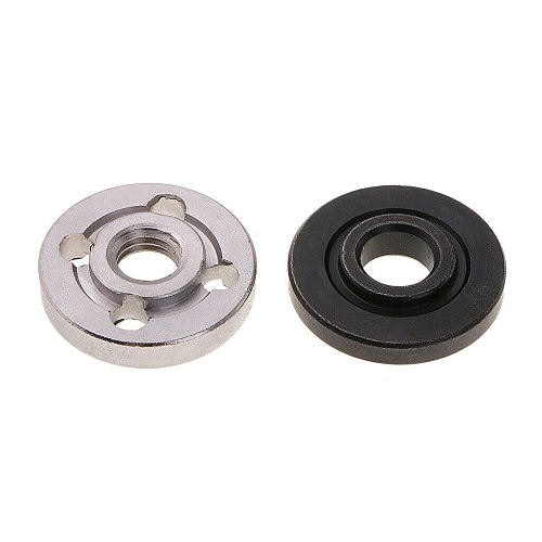 6 Pcs Steel Lock Nuts Flange Nut Inner Outer Kit Angle Grinder Tool Accessories 2 Specifications - Toothless, Toothed