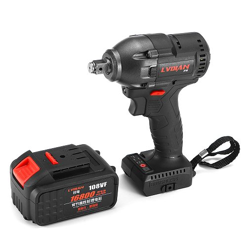 21V Brushless Electric Wrench Cordless Impact Power Wrench Rechargeable Lithium-Ion Battery 330Nm Torque 3400 rpm Hand Drill