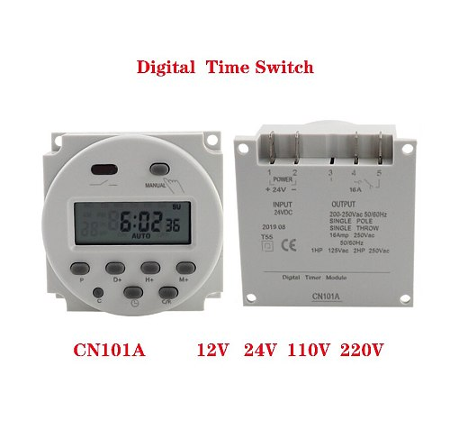 CN101A LCD time switch 12V 24V 110V 220V Time Relay Street lamp billboard power supply timer without  waterproof box