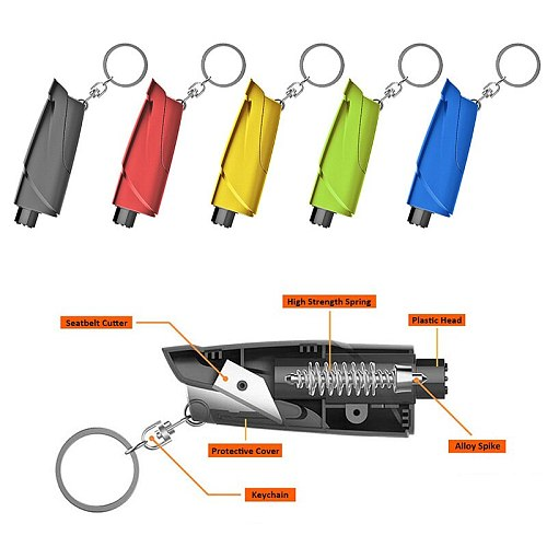 Portable Seat Safety Hammer Auto Glass Car Window Breaker Life-Saving Escape Rescue Tool Seat Belt Cutter Keychain Marteau Hamer