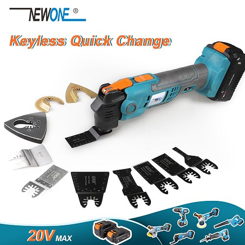 20V MAX Quick Change Anti-Vibration Oscillating Multi-Tool Six Variable Speed Tool-free Blade Release Multi Purpose 100-240V
