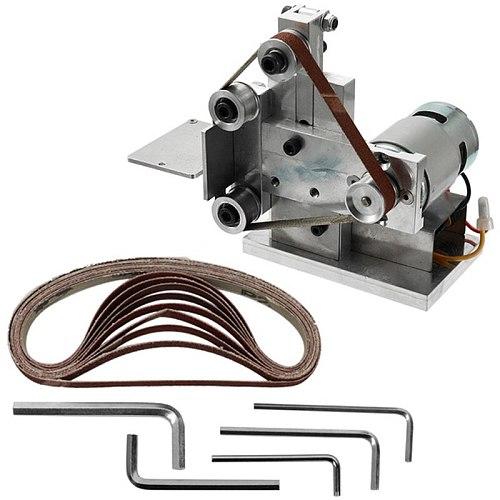 Promotion--Multifunctional Grinder Mini Electric Belt Sander Diy Polishing Grinding Machine Cutter Edges Sharpener Belt Grinder