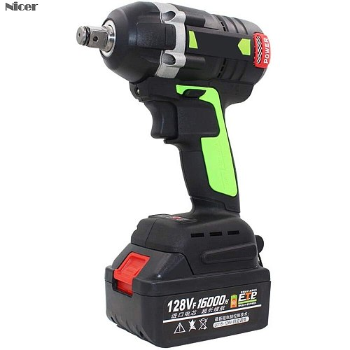 Electric Impact Wrench Brushless Impact Drill Cordless Rechargeable Battery Hand Drill Installation Power Tools 128/198/288VF