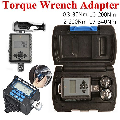 Digital torque wrench 1/2 1/4 2-200 Nm Adjustable Professional Electronic Torque Adapter Digital Wrench Bike Car Repair Bicycle
