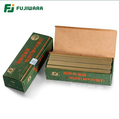 FUJIWARA Electric Pneumatic Nail Gun Straight Nail, U-nail, F15/F20/ F25/ F30(15-30MM)  422J U-(4mm width,22mm length)