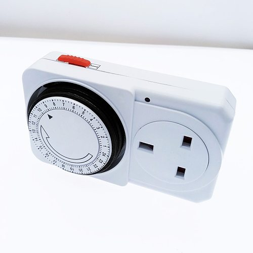 24 Hour Cyclic Timer Switch Kitchen Timer Outlet Loop Universal Timing Socket Mechanical Timer 230VAC 3500W 16A UK EU CN US Plug