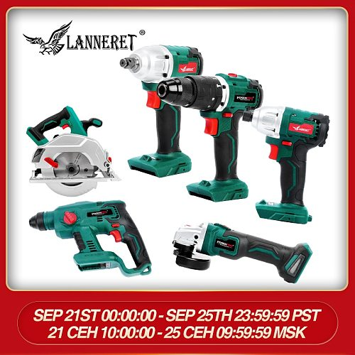 No Battery kit Brushless Angle Grinder Cordless Drill Driver Cordless Wrench 20V Grinder Cordless Rotary Hammer Bare Tools