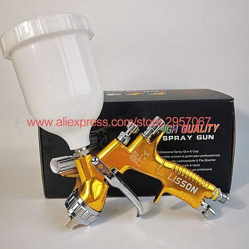 Professional GTI pro lite Golden Painting Gun TE20/T110 1.3mm nozzle spray gun paint gun water based air spray gun for car paint