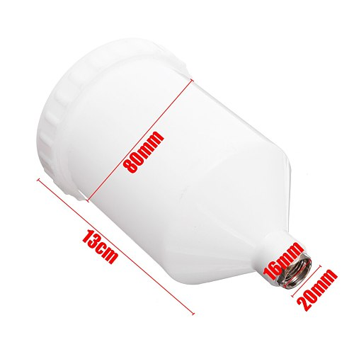 Plastic Sprayer Cup Air Gravity Feed Spray Paint Pot Fastmover Thread Connector For Spray Gun Tools