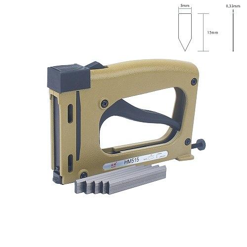 Meite HM515 Frame Gun Nailer With 1000pcs Nails Manual Flex Point Tacker Framing Tools Tacker  Gun Used for Frame Back Fix