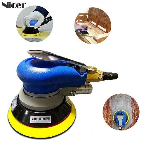 5 Inch Pneumatic Air Sander Polisher 9000RPM Polishing Machine Diy Car Paint Care Woodworking Polishing Grinding Machine
