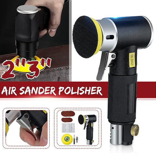 WENXING 2 3 inch car polisher Pneumatic Polisher 90 Degree Orbital Sanders Air Power Tool polishing machine
