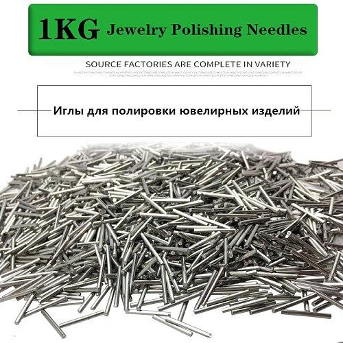 1KG Mini Pins Magnetic Rotary Tumbler Polisher tools Stainless Steel Polishing Needles Jewelry Polishing Needles Media
