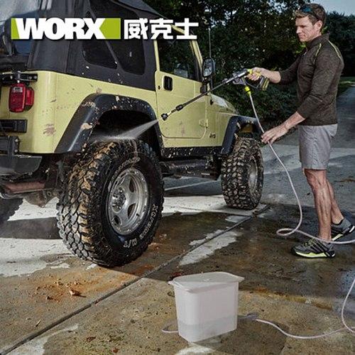 Professional tool WORX 20V lithium battery high pressure cleaner WU629 self-priming portable car high pressure washing water gun