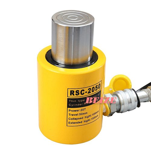 20 Ton Short Type Hydraulic Cylinder RSC-2050 Hydraulic Jack Stroke 50mm Need To Be Used with Hydraulic Pumps