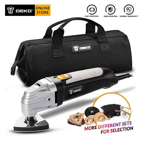 DEKO GJ177 110V/220V Electric Multifunction Oscillating Tool Kit Multi-Tool 300W DIY Power Tool Variable Speed Electric Trimmer