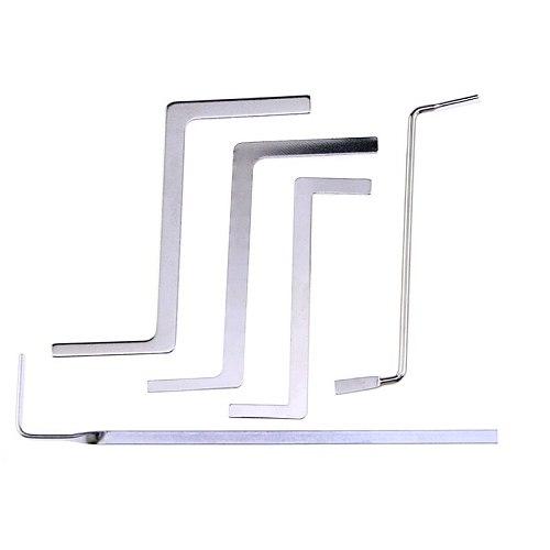Liushi 5Pcs/lot Multifunction Locksmith Tools Metal Row Tension Rod/Push Rod Tubes Tension Wrench For Locksmith Supply