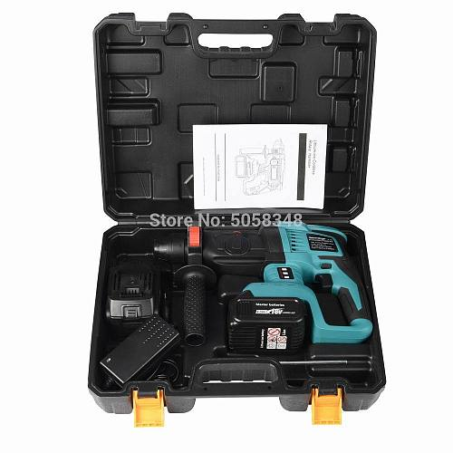 rechargeable brushless cordless rotary hammer drill electric Hammer impact drill with two 18V 4.0Ah battery