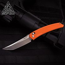 SANRENMU SRM NEW 9211 Pocket Folding Knives 8Cr13Mov Blade Axis System Survival EDC Tool outdoor camping hunting tactical knife