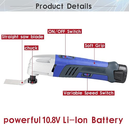 12V Li-ion Oscillating Multi-Tool with 2 battery Cordless Power Tools for Home DIY Renovation Tools Electric Trimmer Saw