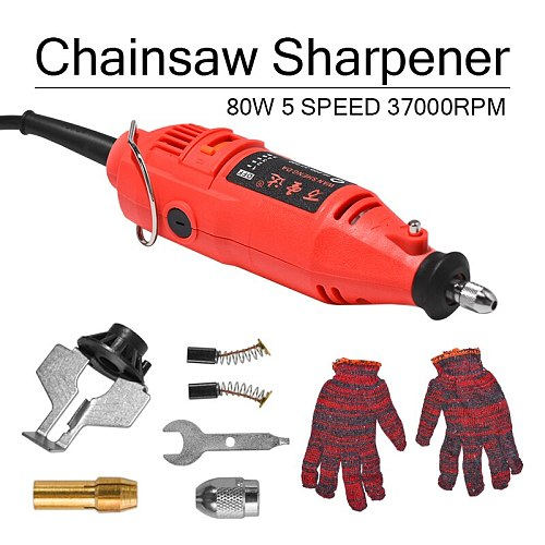180W 5 Speed 37000rpm Power Grinder Sharpening Handheld Chain Machine Electric Mini Saw Grind Sharpening Machine Power Tool Set