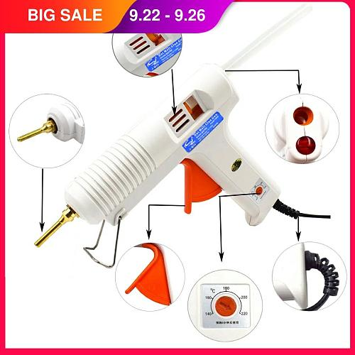 150W 100W Hot Melt Glue Gun with Temperature Control Thermostat 5 Free Glue Sticks for Home DIY Industrial Manufacture