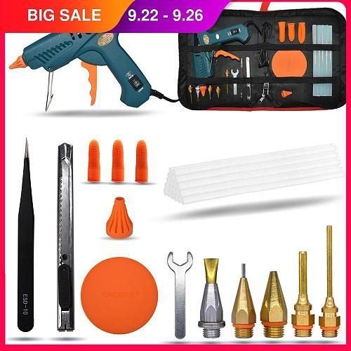 Hot Melt Glue Gun 15 IN 1 Tool KIT 50W/OFF/150W Switch For Crafts Repair Tool Profes DIY Use 11mm Glue Sticks Pure copper nozzle