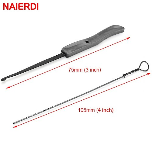 NAIERDI 10PCS Locksmith Supplies Hand Tools Lock Pick Set Broken Key Extractor Remove Removal Hooks Lock Kit Hardware