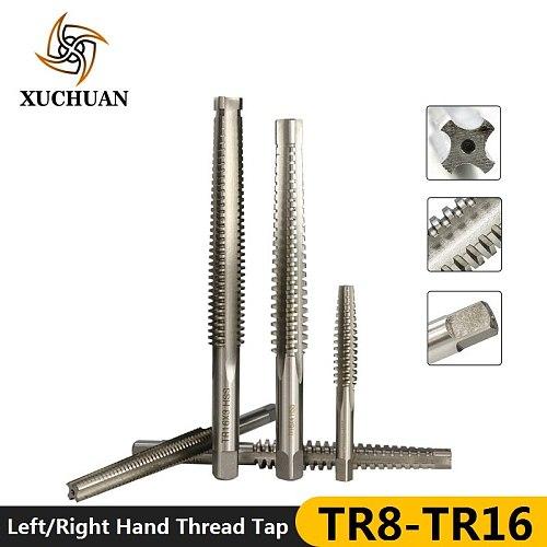 1pc TR8-TR16 Left/Right Hand Machine Trapezoidal Tap HSS Plug Tap Screw Tap Drill Machine Thread Tap