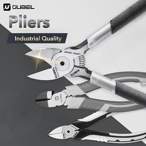 OUBEL 4.5/5/6/7 Inch Diagonal pliers Industrial Grade Electric Wire Stripping Crimping Vise Strong Manual Home Repair Tools