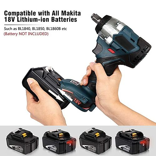 Abeden Brushless Electric Impact Wrench 18V 380 N.m Cordless Screwdriver Speed Rechargable Drill Driver LED Light for makita