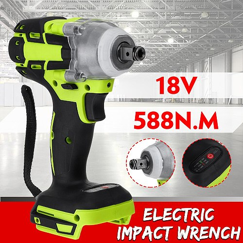 588N.M 18V Electric Brushless Impact Wrench Rechargeable 1/2 Socket Wrench Power Tool Cordless Without Battery