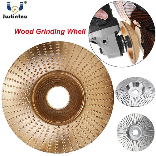 JUSTINLAU 16mm  5/8  Bore Extreme Shaping Disc Tungsten Carbide Wood Sanding Carving Tool Abrasive Disc Tools for Angle Grinder