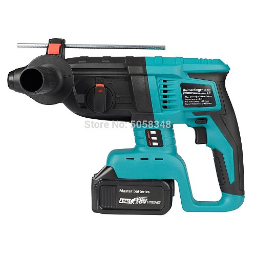rechargeable brushless cordless rotary hammer drill electric Hammer impact drill with one 18V 4000mAh battery