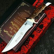 PEGASI  U.S.A(DEHONG )SA78 enhanced hunting straight blade rescue knife camping straight blade Mirror light  tactical knife