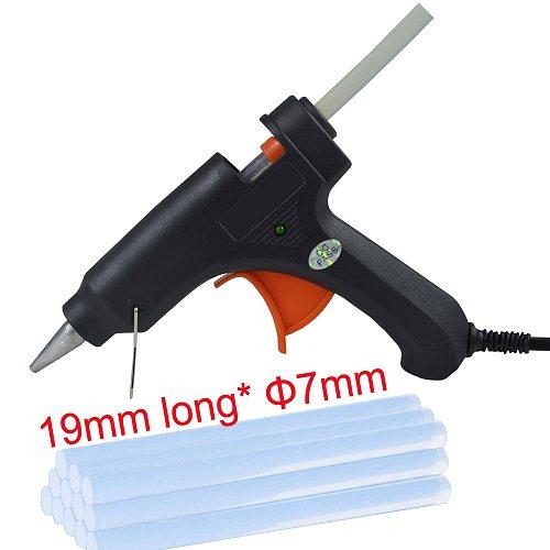 Hot melt gun 20W mini thermal glue gun 7 mm home DIY set including 5 pieces glue sticks silicone gun crafts