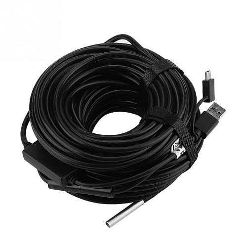 3 IN 1 20 Meter 5.5mm USB Endoscope with 720P Waterproof Camera for Pipe Car Inspection Endoscope
