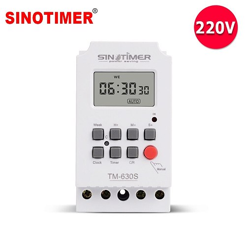 Heavy Load 30A 230Vac 7 Days Weekly Digital Electronic Lighting Timer with Interval 1 Second and Power Direct Output