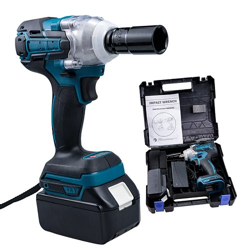 Tool Power Tool Electric Wrench Electric Screwdriver Impact Wrench Rechargeable Socket Spanner Electric Brushless Impact Wrench