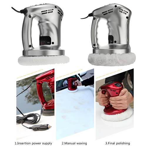 12V  Car Auto Polisher Vehicle Polishing Machine   Electric Tool Buffing Waxing  Buffer Waxer ABS Vacuum Cleaner Tools Kit