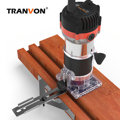 Electric Laminate Edge Trimmer Wood Router Woodworking Laminator Carpentry Trimming Cutting Carving Machine Power Tool 720W