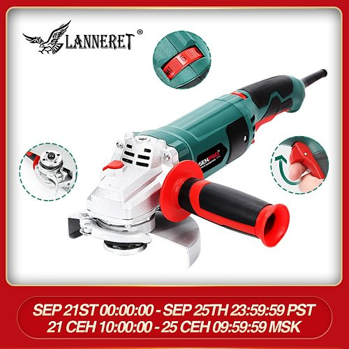 1050W 125mm Electric Angle Grinder Disc Toolless Guard for Cutting Grinding Metal or Stone Works