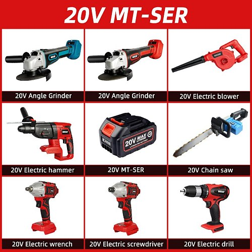 WOSAI Electric wrench/Electric drill screwdriver/Angle Grinder/Electric hammer/Electric blower/Chain saw/for 18V Makita Battery