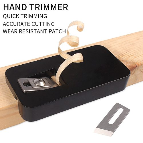 Double Edge Trimmer Wood Edge Banding Machine Manual Tail Trimming with Blades Woodworking Tool