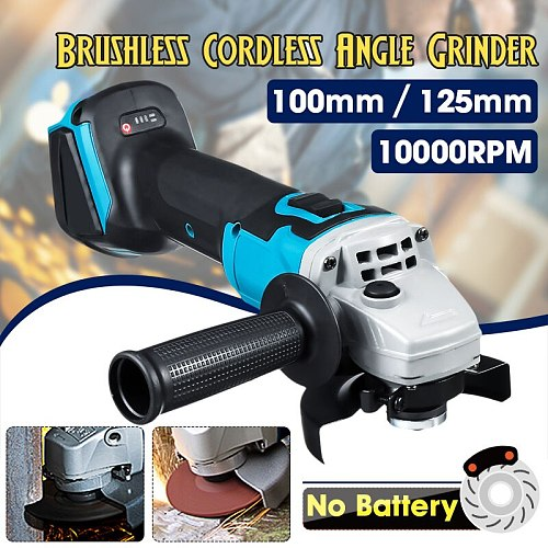 125/100mm 18V Brushless Cordless Impact Angle Grinder Power Tools Polishing Grinding Metal Cutting Machine for Makita Battery