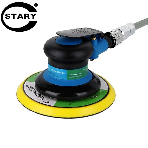 STARY 6 inch Polisher 12000RPM No-Load Speed 152mm Car Paint Care Tool Polishing Machine Sander Air  Woodworking Polisher