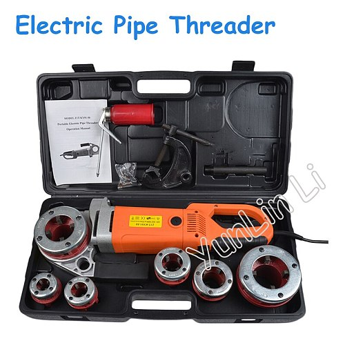 Electric Pipe Threader Portable Sleeve Machine 220V Galvanized Pipe Sleeve Machine Electric Threading Tools ZIT-KY01-50