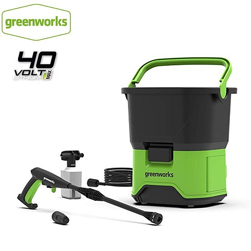 Greenworks 5104507 GDC40 Portable Cordless Electric Pressure Washer 650W 40V Multifunction Green Washer For Car Boat Deck